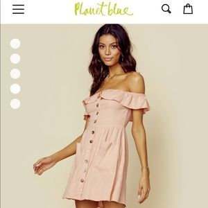 Safe the Label, off shoulder light pink dress